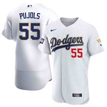 Los Angeles Dodgers Customized 2020 World Series Championship Gold Trimmed Jersey – All Stitched