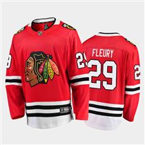 Chicago Blackhawks #29 Marc-Andre Fleury Home Red 2021 Player Jersey